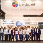 Equipo de Lleida.net en el stand. Mobile World Congress 2014
